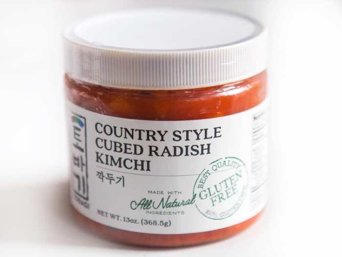 Gluten-free mat kimchi store bought Tobagi
