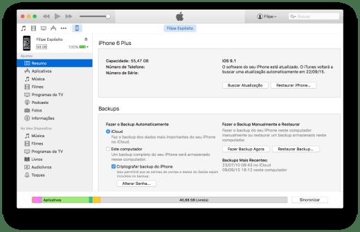 iTunes iOS Restore