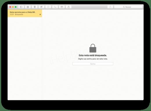 Senha Notas OS X 3