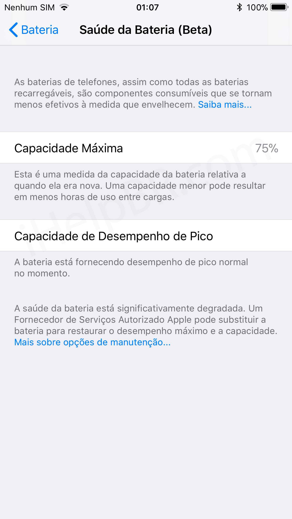0ca122e9aa4 Como a própria Apple disse, a redução no desempenho se torna mais agressiva  conforme a vida útil da bateria diminui.