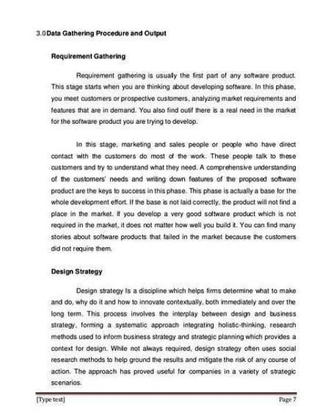 Data Gathering Procedures And Outputs Sample Thesis Proposal