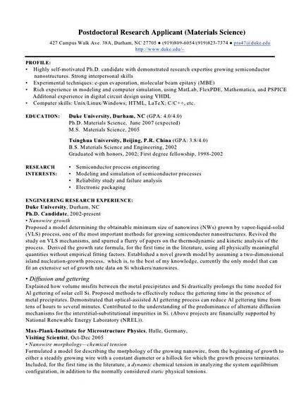 Great Resume Postdoc Cover Letter Sle Biology Nice Ideas Pany Address Employer Name