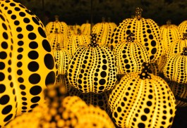 Yayoi Kusama Pumpkin Room Close Up