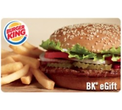 ihocon: $25 Burger King Gift Card 只賣 $20  - Via Email delivery