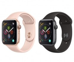 ihocon: AppleWatch Series4 (GPS, 44mm) Space Gray Aluminium Case with Black Sport Band