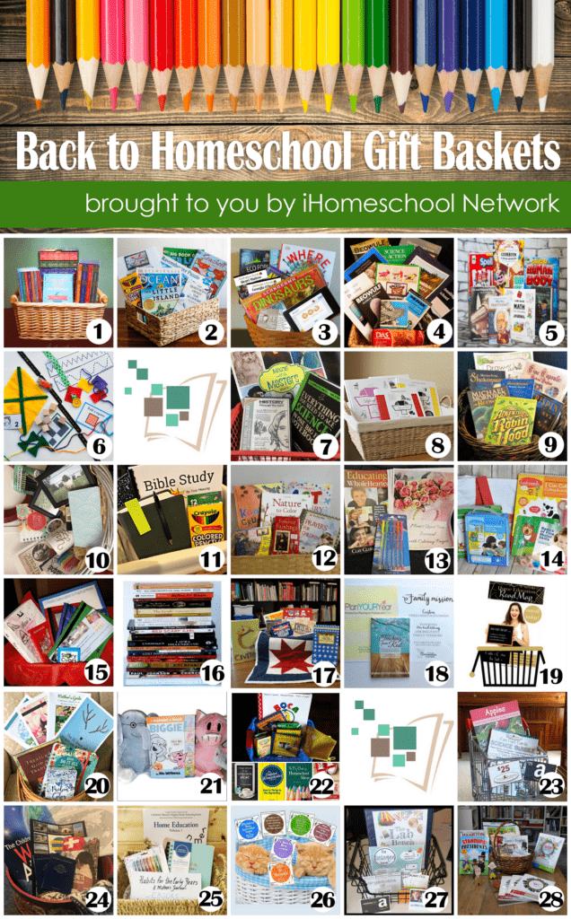 Back to Homeschool Gift Baskets 2017