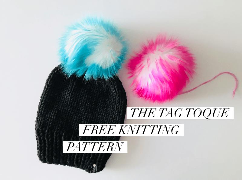 Tag Toque Knitting Pattern