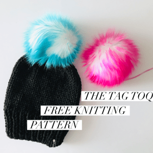 Tag Toque Knitting Pattern