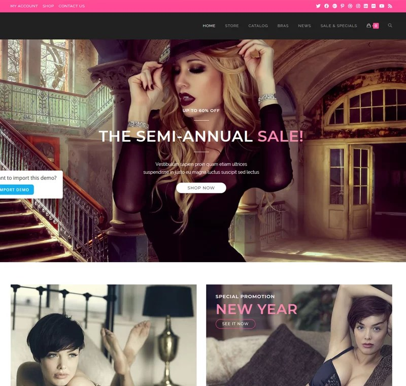 Beautiful Ecommerce Website – Lingerie