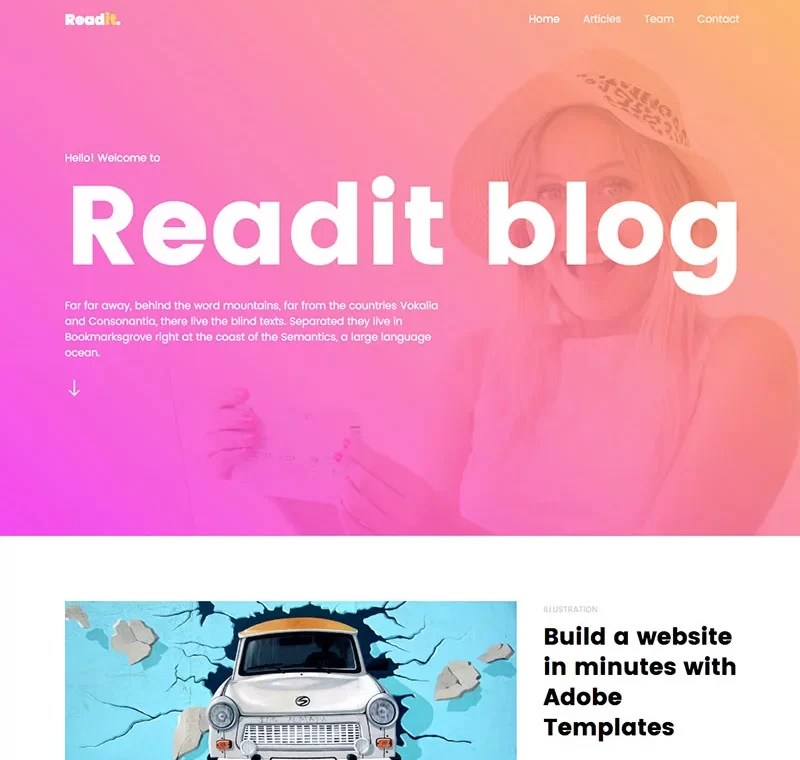 Beaytiful Static Website – Readit