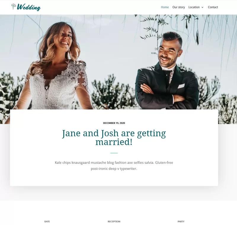 Beaytiful Dynamic Website – Wedding