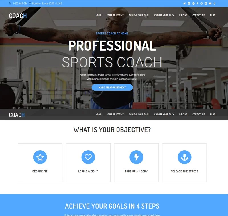 Beaytiful Dynamic Website – Coach