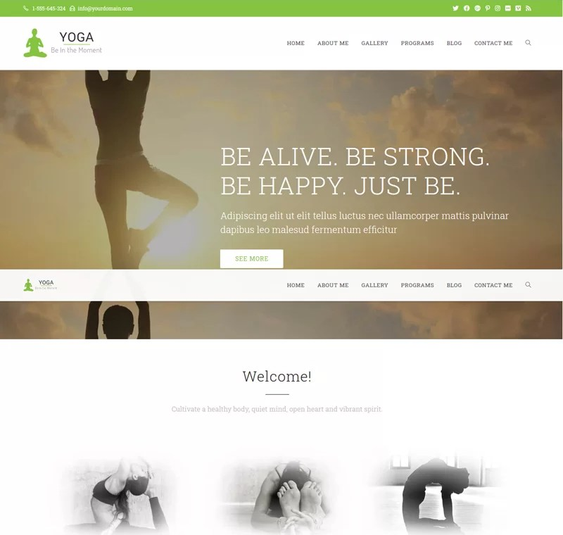 Beaytiful Dynamic Website – Yoga