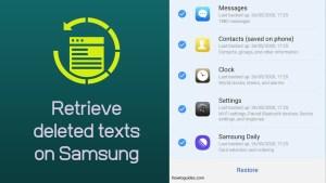 Retrieve deleted texts on Samsung