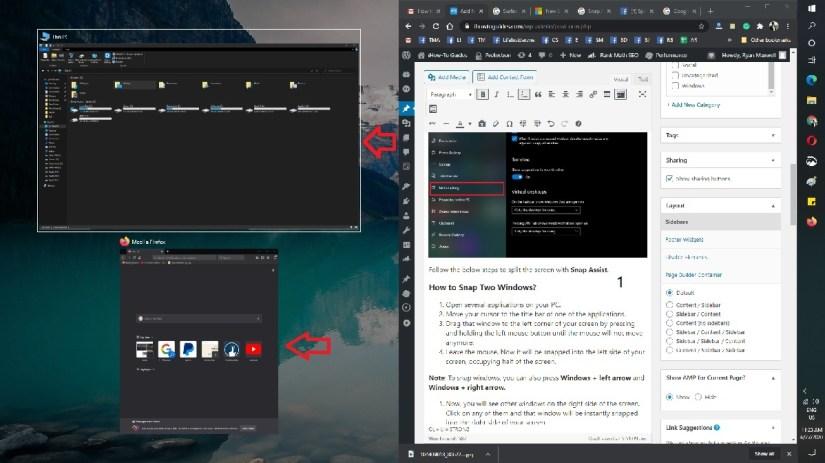 Split-Screen-on-Windows-10-Keyboard-shortcut