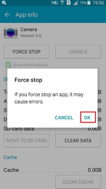 stop camera app