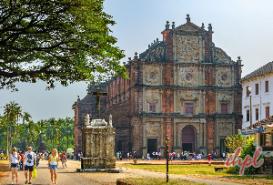 Basilica of Bom Jesus Goa in India