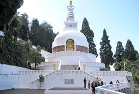 Japanese Peace Pagoda in Darjeeling, West Bengal
