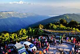 Tiger Hill in Darjeeling, West Bengal