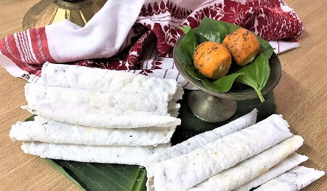Bihu with Til Pitha Assam