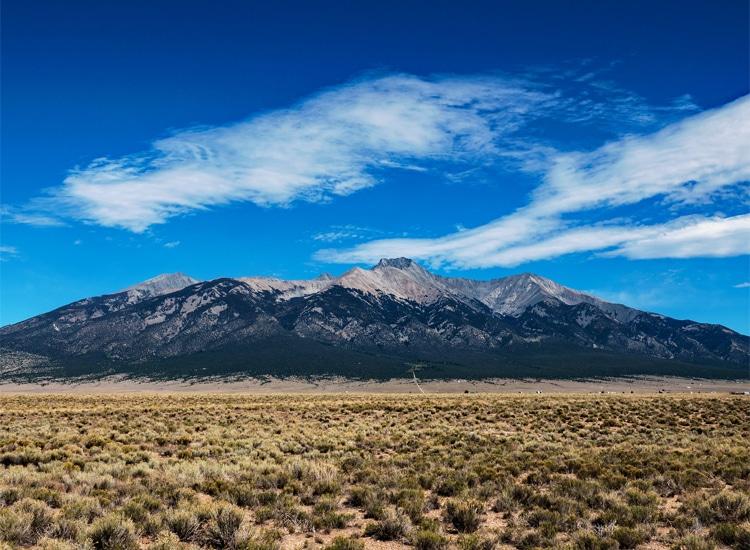 San Luis Mysterious Valley in Colorado