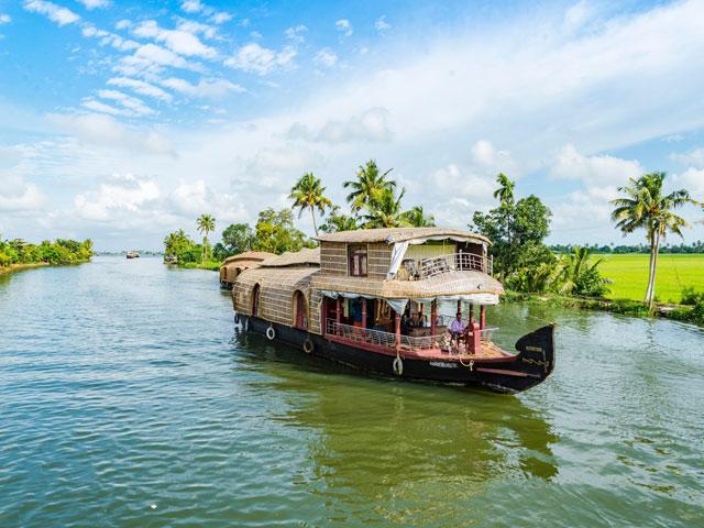 Alleppey in Kerala, India