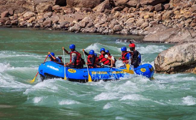 rafting in rishikesh in june in India