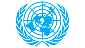 United Nations flag in blue