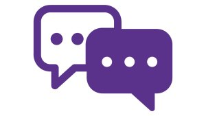 conversation - two speech bubbles