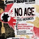 No-Age-Tour-Poster-5 No Age - 2009 Fall Tour Dates + Posters