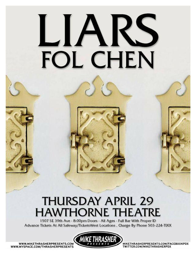 Liars Fol Chen 2010 Tour Poster