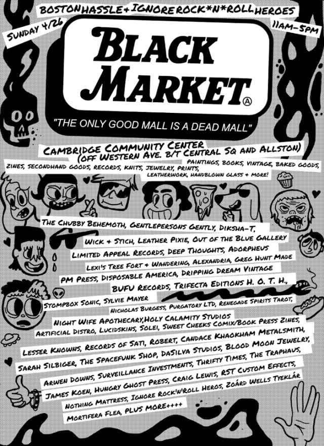 Boston-Hassle-Black-Market Boston Events - Paper Circus Screening + Black Market