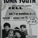 Sonic-Youth-Cell-at-Santa-Monica-Poster-1993-150x150 Retro Reviews - Sonic Youth - Experimental Jet Set, Trash And No Star / Washing Machine