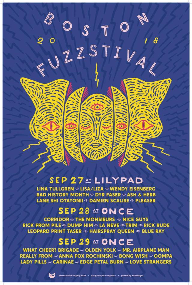 Boston-Fuzzstival-2018-Poster Watch / Listen - Preview of Boston Fuzzstival 2018
