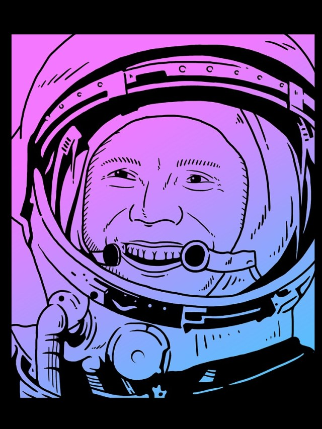 Yuri Gagarin Vaporwave Pastel Goth Aesthetic Baby One Piece