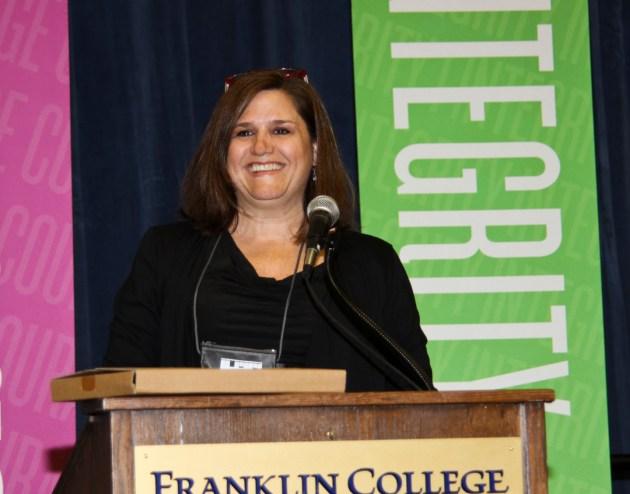 Robin Bilinski, NorthWood High School, accepts the 2014 Sengenberger Award.