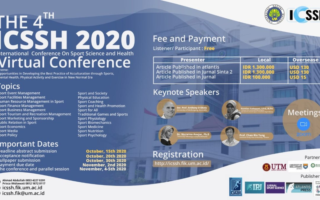4th International Conference on Sports Sciences and Health