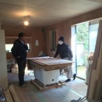 在来浴室のFRP防水とDIY塗装下地が完了(戸建てリフォーム ニュータウン)