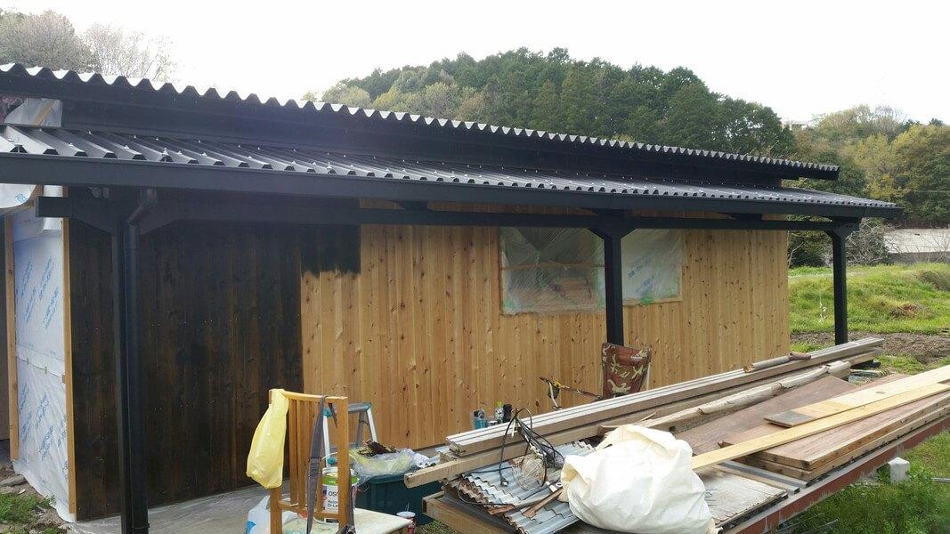 外壁杉板張り+オスモ塗装(DIY 猪名川町)