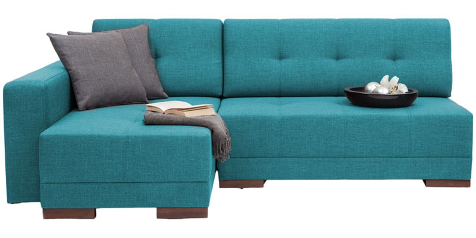 apollo rhs sectional sofa with left side chaise in blue colour