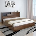Buy Borden Queen Size Bed In Brown Colour By Home Online Modern Queen Size Beds Beds Furniture Pepperfry Product