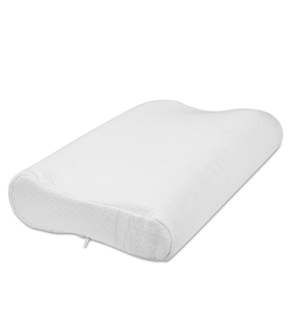 contour pack of 1 19x12 memory foam pillow insert with zipper cover