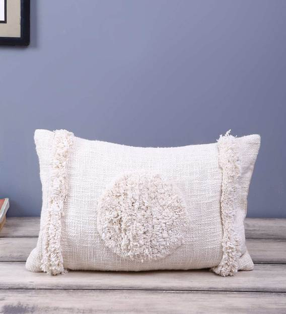 cotton ribbed plain solid 12x20 inch cushion cover