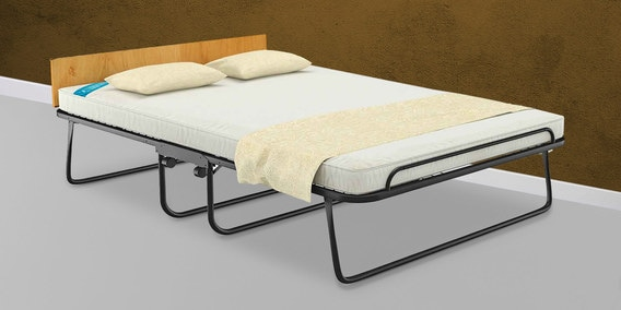 Easy Premium Foldable With Wheels Queen Size E Saving Bed Free Mattress By