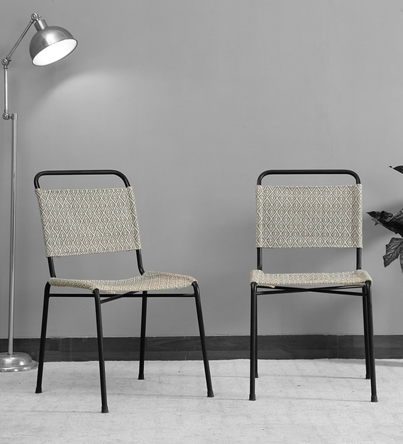 gerd metal patio chairs set of 2 in black colour