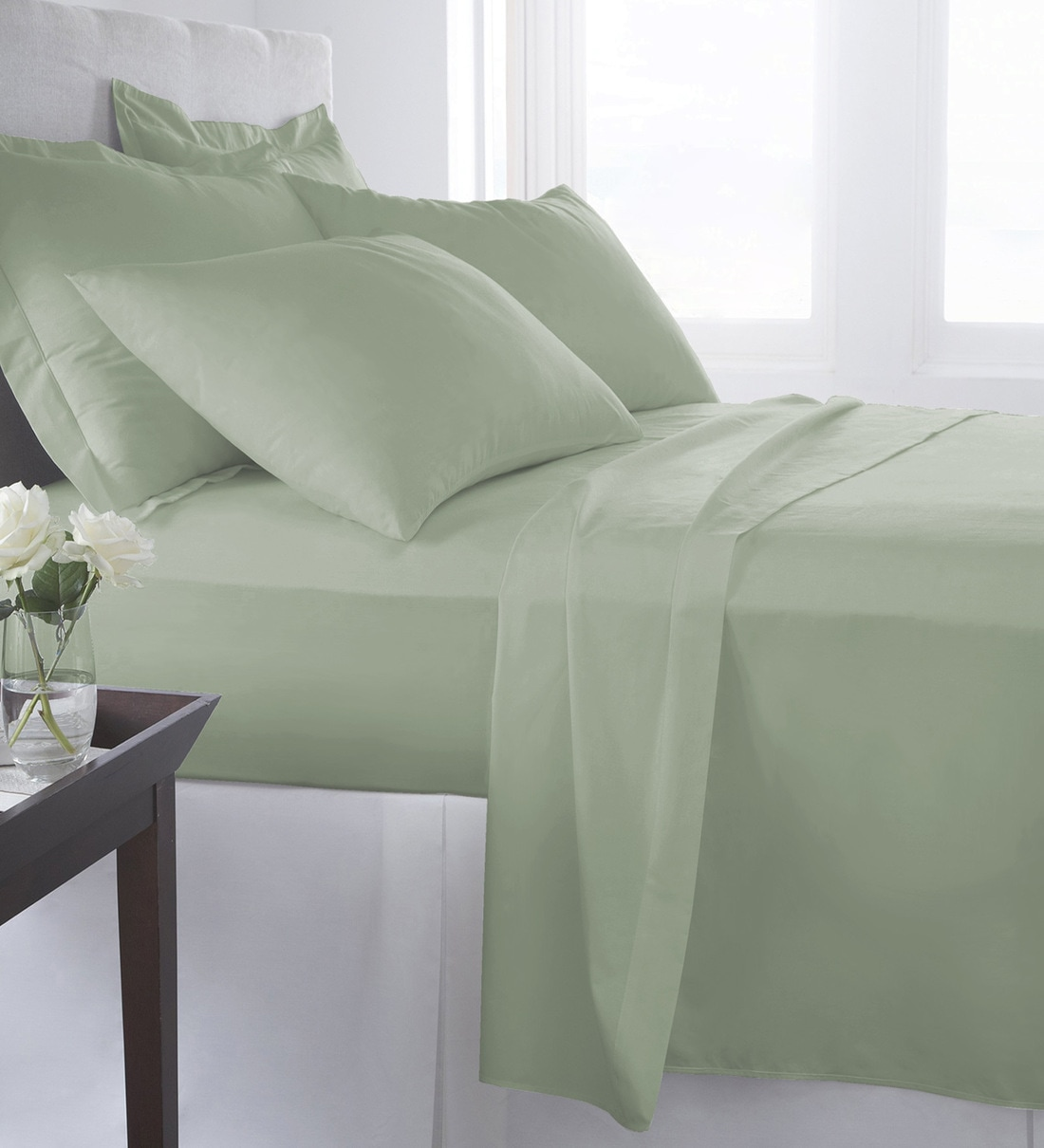 Buy 100 Cotton 400tc King Size Bedsheet With 2 Pillow Covers Online Solid King Bed Sheets Bed Sheets Furnishings Pepperfry Product