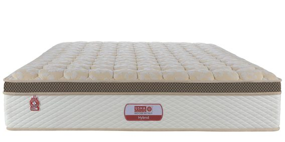 Hybrid Single Bed Eurotop Pocket Spring With Memory Foam Mattress 78x36x6 Inch Free Pillow By Usha Shriram
