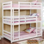 Buy Jolly Triple Bunk Bed In White By Urge Online Standard Bunk Beds Bunk Beds Kids Furniture Pepperfry Product