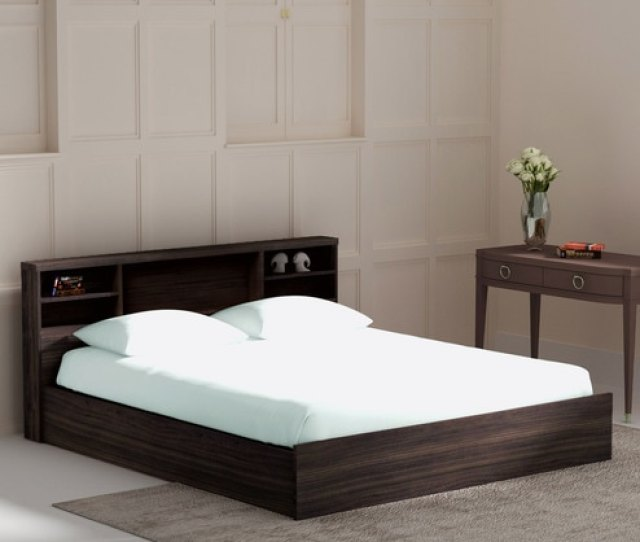 Kaito King Size Bed With Box Storage In Wenge Finish By Mintwud