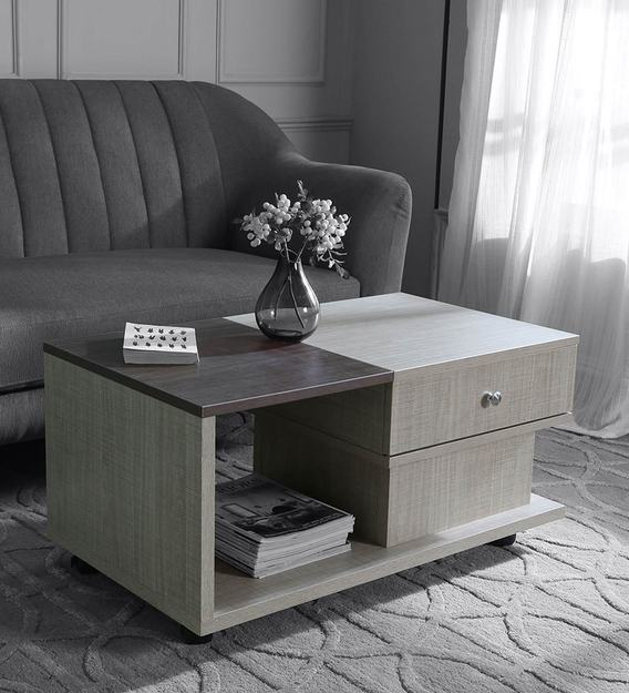 movable center table with drawer in multi colour